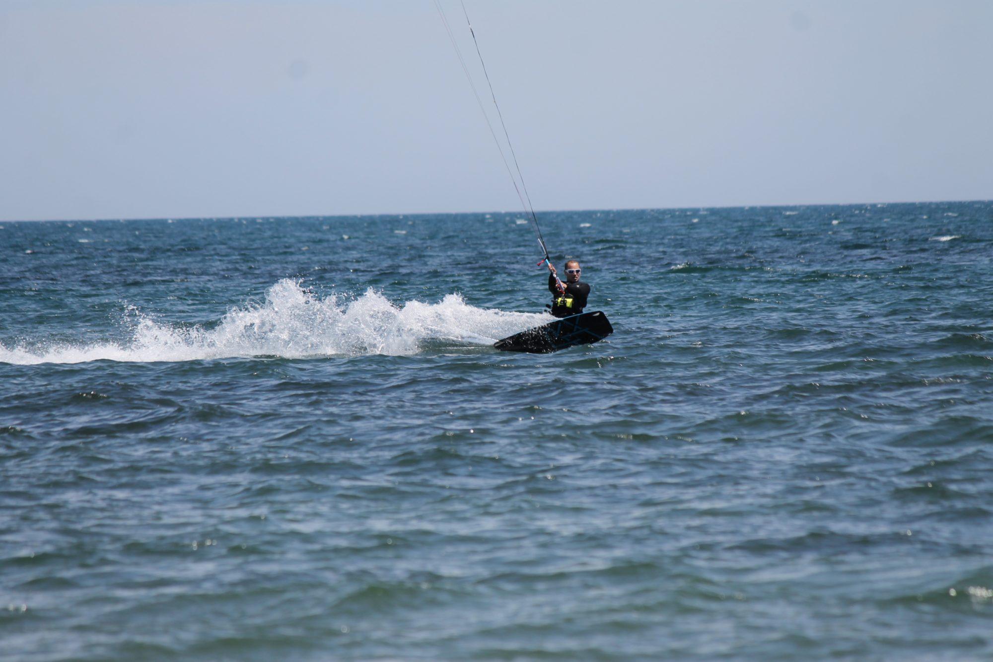 Kitesurfing in Sardinia Punta Trettu Porto Botte Cagliari Poetto Beach