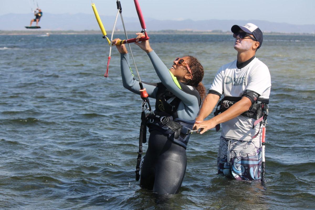 Trial kite Course for Beginners in Punta Trettu Sardinia